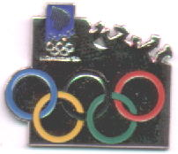Logo pin with large rings