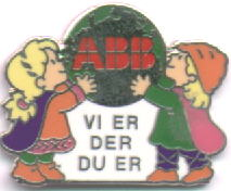 "ABB ""Vi er der du er"" We are where you are mascots"