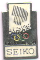 Seiko logo pin - luminous