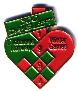 300 days left Lillehammer Norway 1994 Winter Games