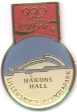 Coca Cola Håkons Hall light blue