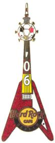 HRC 2006 red Flying-V Football guitar w. TV-Tower