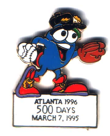 Atlanta 1996 Izzy 500 days to go