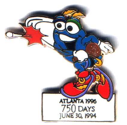 Atlanta 1996 Izzy 750 days to go