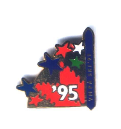 Year pin for 1995 Ski VM Trondheim 1997