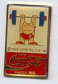 Barcelona Coca Cola weightlifting