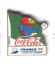 World Cup 1998 Coca Cola mascot Brazil