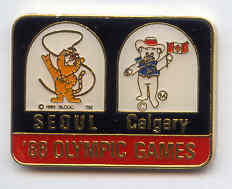 Calgary 1988 - Seoul 1988 bridge pin