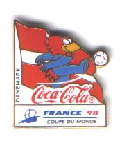 World Cup 1998 Coca Cola mascot Denmark