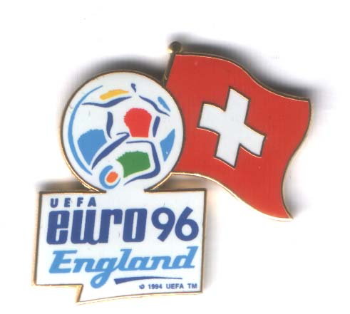 Euro 96 logo pin Swiss flag