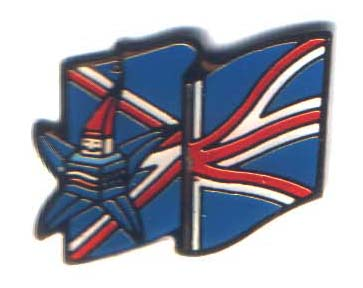 Albertville 1992 Mascots flag Great Britain