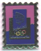 Stamp pin given to the buyers of the stamp collection