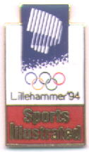 Sports Illustrated red with northern light - Lillehammer 1994