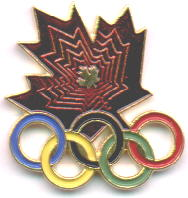 Canada maple Leaf with colored rings BIG