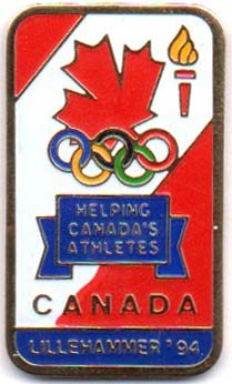 Canada Helping Canada`s athletes - Lillehammer olympics 1994