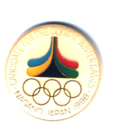 Nagano 1998 bid pin Candidate for the olympic winter games