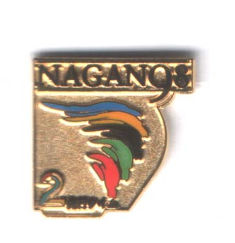 Nagano 1998 TV2 media pin