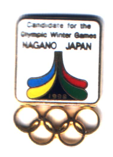 Nagano 1998 bid pin Candidate for the.... rectangle