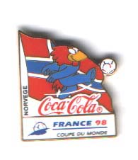World Cup 1998 Coca Cola mascot Norway