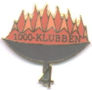 Club pin with number