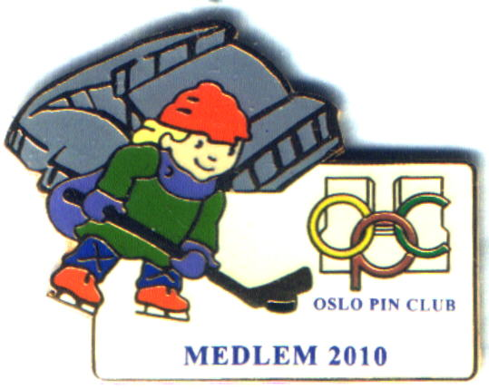 FIMO Oslo Pin Club 2010 Mascot hockey