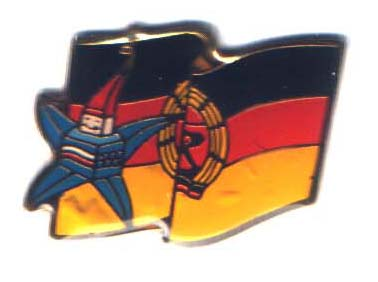 Albertville 1992 Mascots flag East Germany