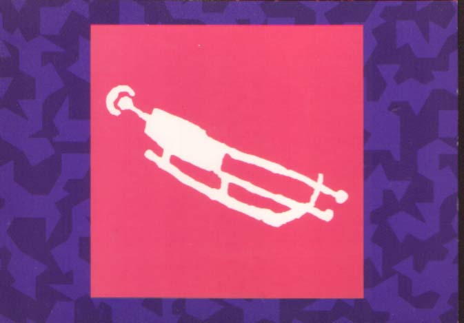 Postcard - pictogram luge