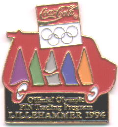 Coca Cola Pin Trade program van - Lillehammer 1994