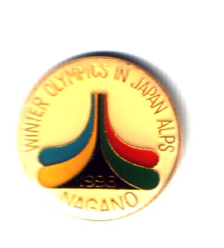 Nagano 1998 bid pin Winter olympics in Japan Alps