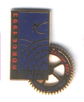Anniversary pin 1893 - 1993 Chicago 1893