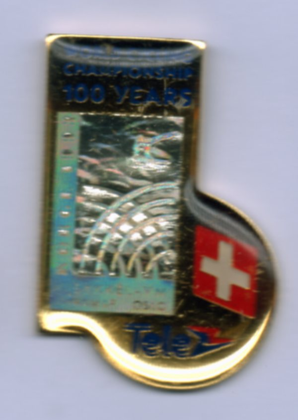 Tele nation pin Switzerland Sykkel VM 1993