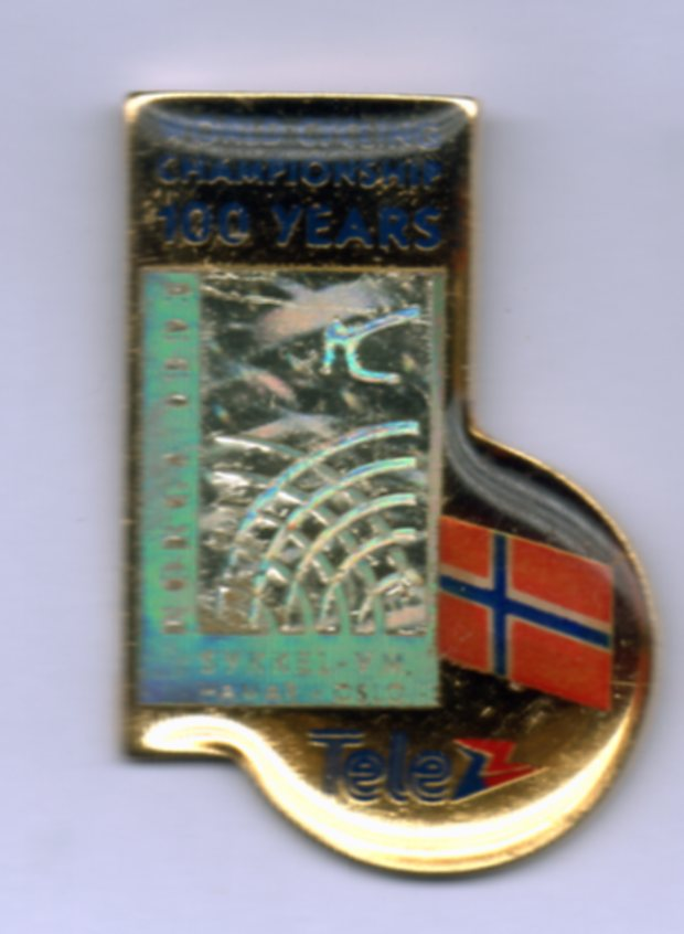 Tele nation pin Norway Sykkel VM 1993
