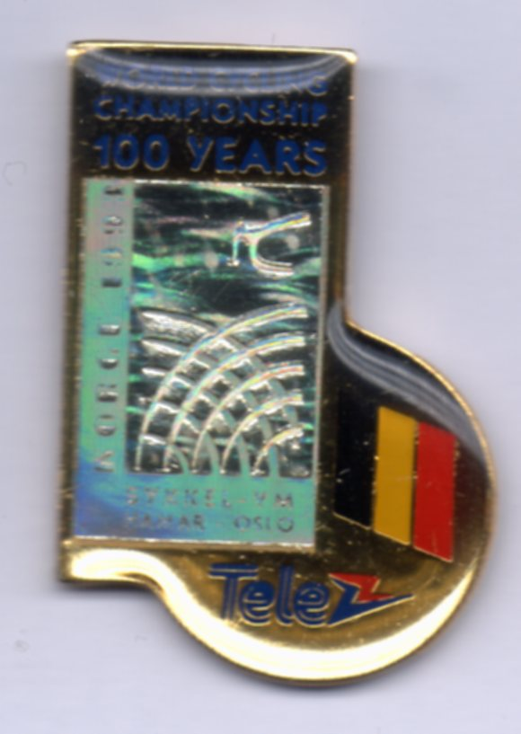 Tele nation pin Belgium Sykkel VM 1993
