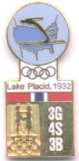 Historisk pin Lake Placid 1932