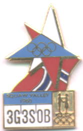 NOC Memorabilia pin Squaw Valley 1960