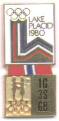NOC Memorabilia pin Lake Placid 1980