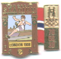 NOC Memorabilia pin London 1908