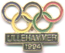 Lillehammer 1994 with the olympic rings