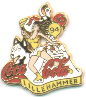 Coca Cola Lillehammer 1994 - figure skating yellow