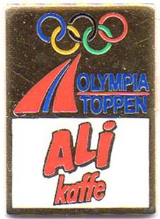 Olympiatoppen Ali Kaffe gold trim with number