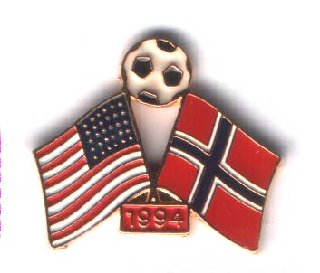World Cup 1994 Norway USA with a ball