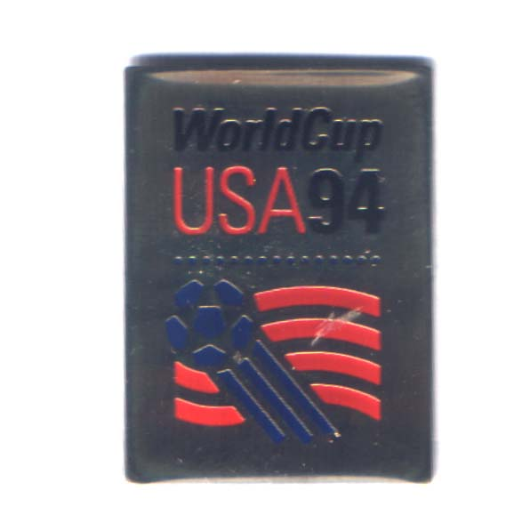 World Cup 1994 logo pin square