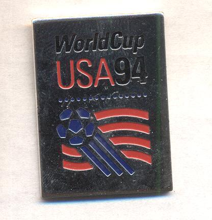 World Cup 1994 Logo pin silver trim