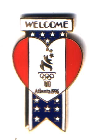 Atlanta 1996 heart pin Welcome