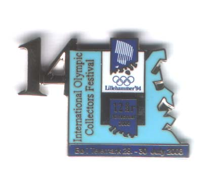 14th Int. pinsfestival Bø 2006 with number Lillehammer OL 1994