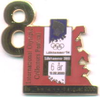 8th international pins festival with number
