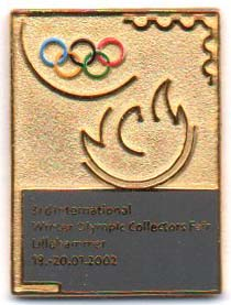 3rd Int.l Winter Olympics Collectors fair 2002 rektangel num
