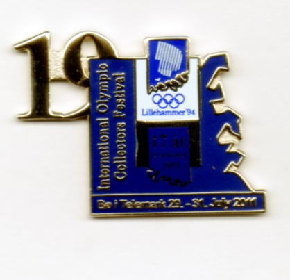 19th Int. pinsfestival Bø 2011 with number Lillehammer OL 1994