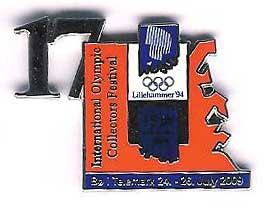 17th Int. pinsfestival Bø 2009 with number Lillehammer OL 1994