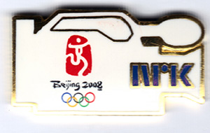 NRK Kamera - media pin Beijing 2008